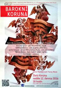 Takhle vypadal vytištěný plakát, který vytvořila grafička Kateřina Zemanová