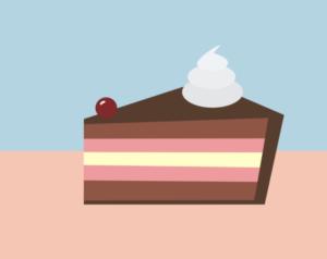 Grafika vytvořená pro web - jednoduchý dort.