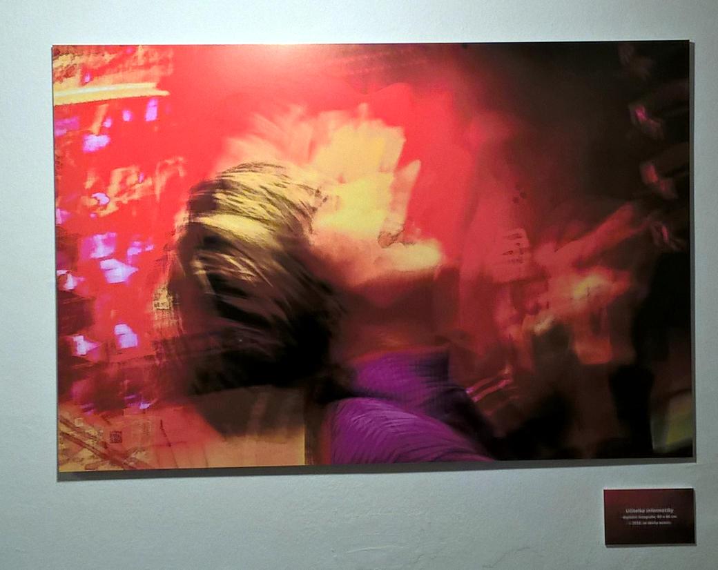 Obraz Učitelka informatiky (výstava Kuběs rozostřeno, České Budějovice)