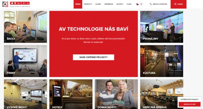 Připomínkoval jsem tvorbu webu pro firmu AV Media. Tvořila jej firma Praguebest.