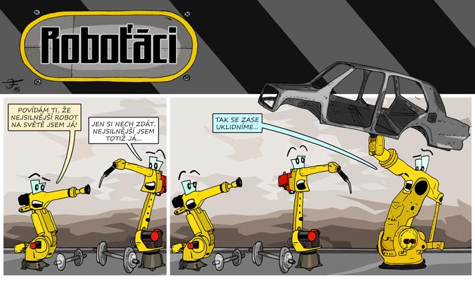 Komixový strip Roboťáci vychází každý měsíc