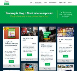 Novinky/blog postupně rozšiřují a zkvalitňují obsah webu. Dochází k vhodnému propojení i s dalšími informačními kanály.