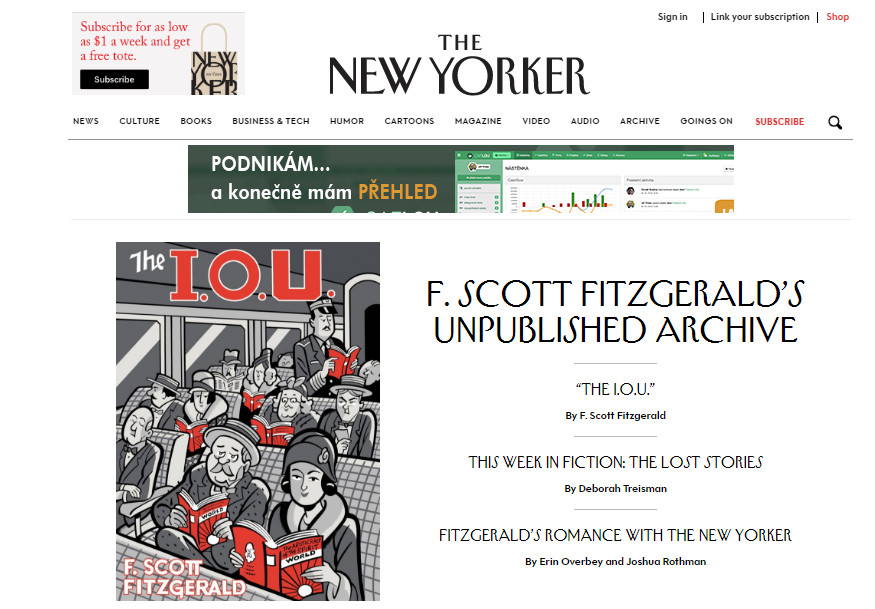 ... A stejně tak i světoznámý presftižní magazín The New Yorker