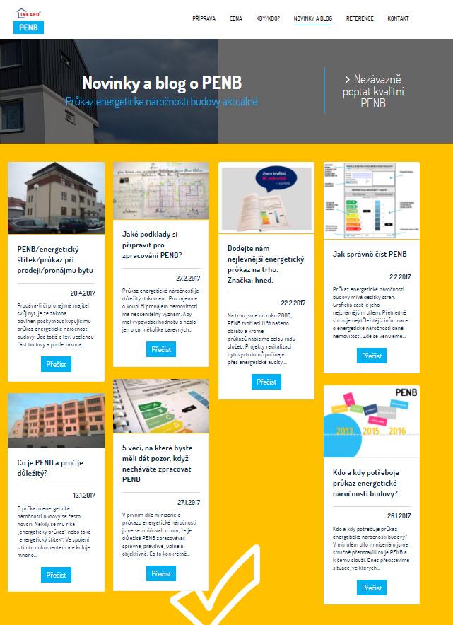 Na webu nechybí blog s užitečnými a aktuálními informacemi.