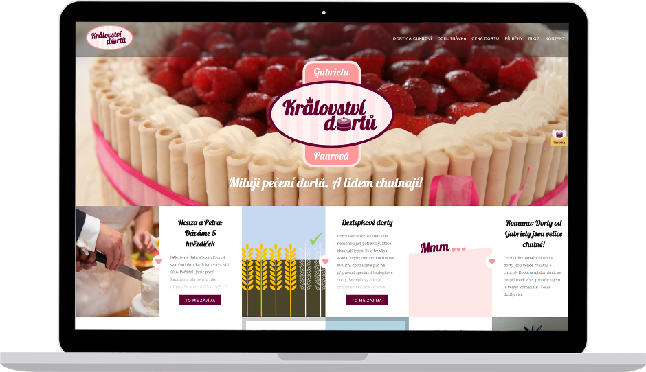 Tvorba webových stránek - \'Ceské Budějovice - Království dortů