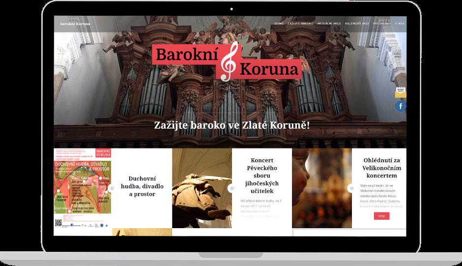 Tvorba webových stránek Barokní Koruna