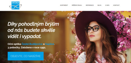 Copywriting webu Optika Bartoňová