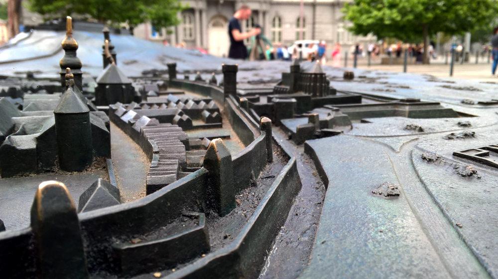 Zmenšený historický model města Brna