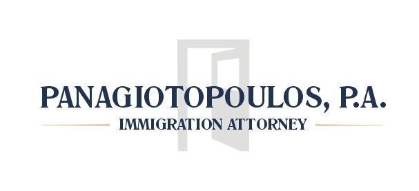 Pro značku Panagiotopoulos, P.A. jsem připravil nové logo. Kombinuje konzervativní barvy se symbolem otevřených dveří. Ty americký imigrační právník otevírá svým klientům.