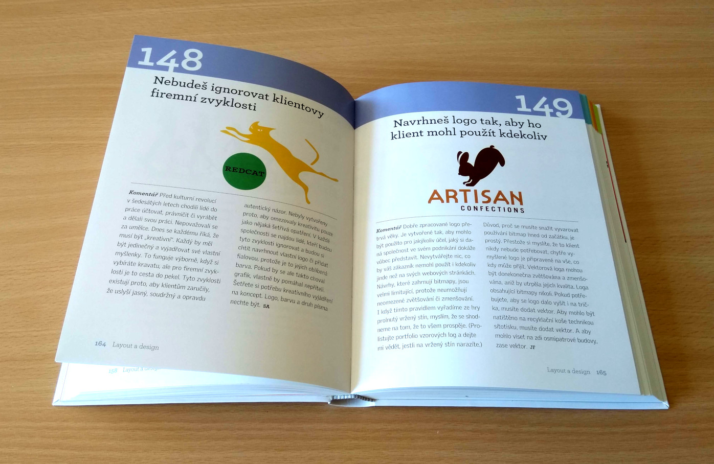 Náhled publikace (kapitola věnovaná layoutu a designu)